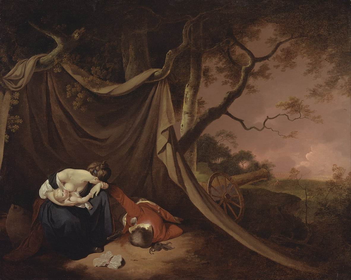 The Dead Soldier door Joseph Wright of Derby
