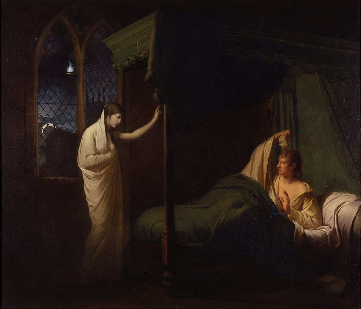 William and Margaret from Percys Reliques of Ancient English Poetry door Joseph Wright of Derby