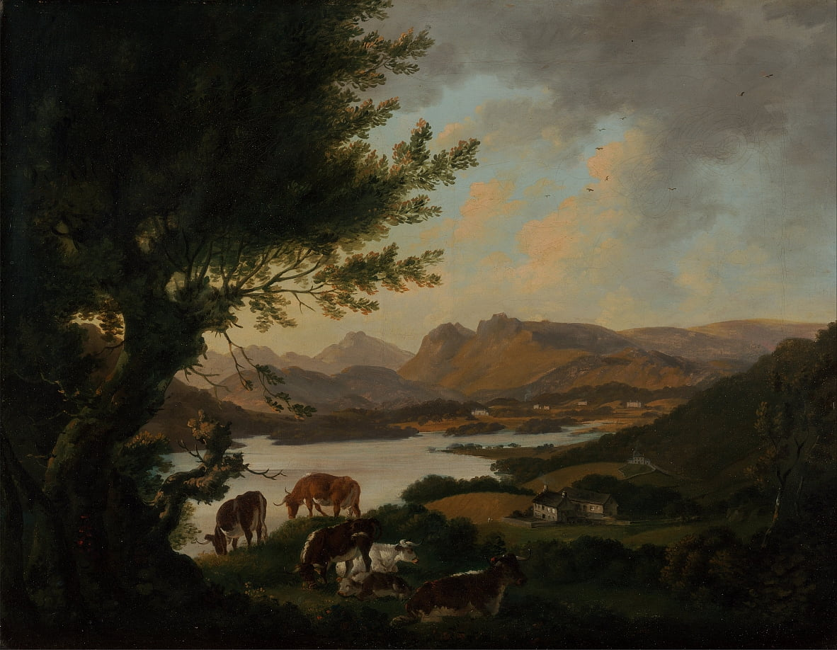 Lake Windermere door Julius Caesar Ibbetson