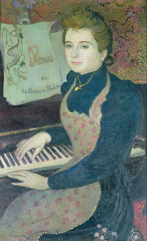 Marthe aan de piano of, Minuet van Princess Maleine, 1891 door Maurice Denis