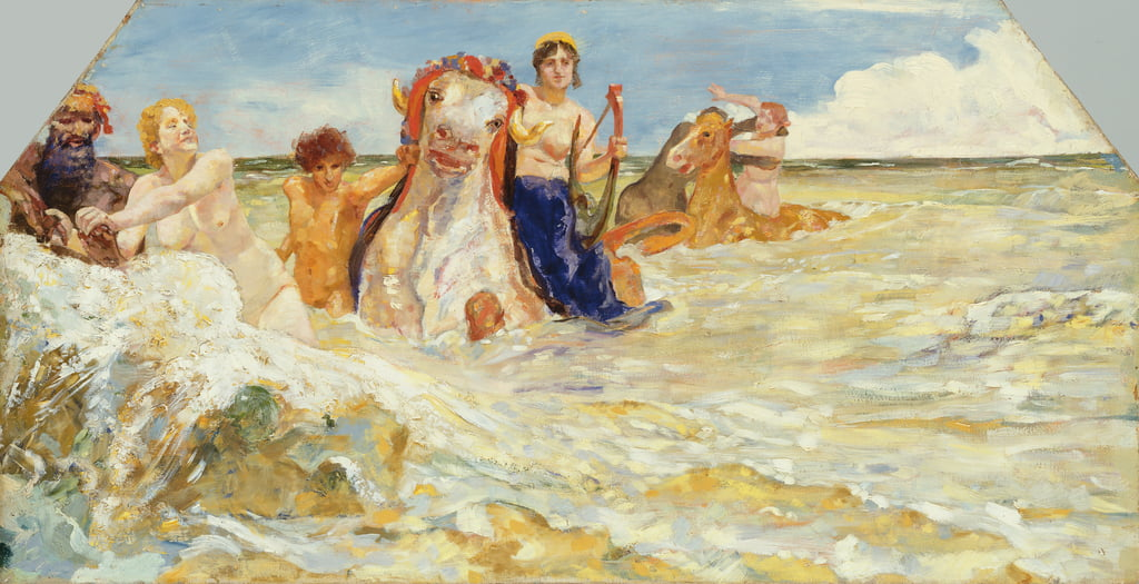Sea Gods in the Surf, 1884-85 door Max Klinger