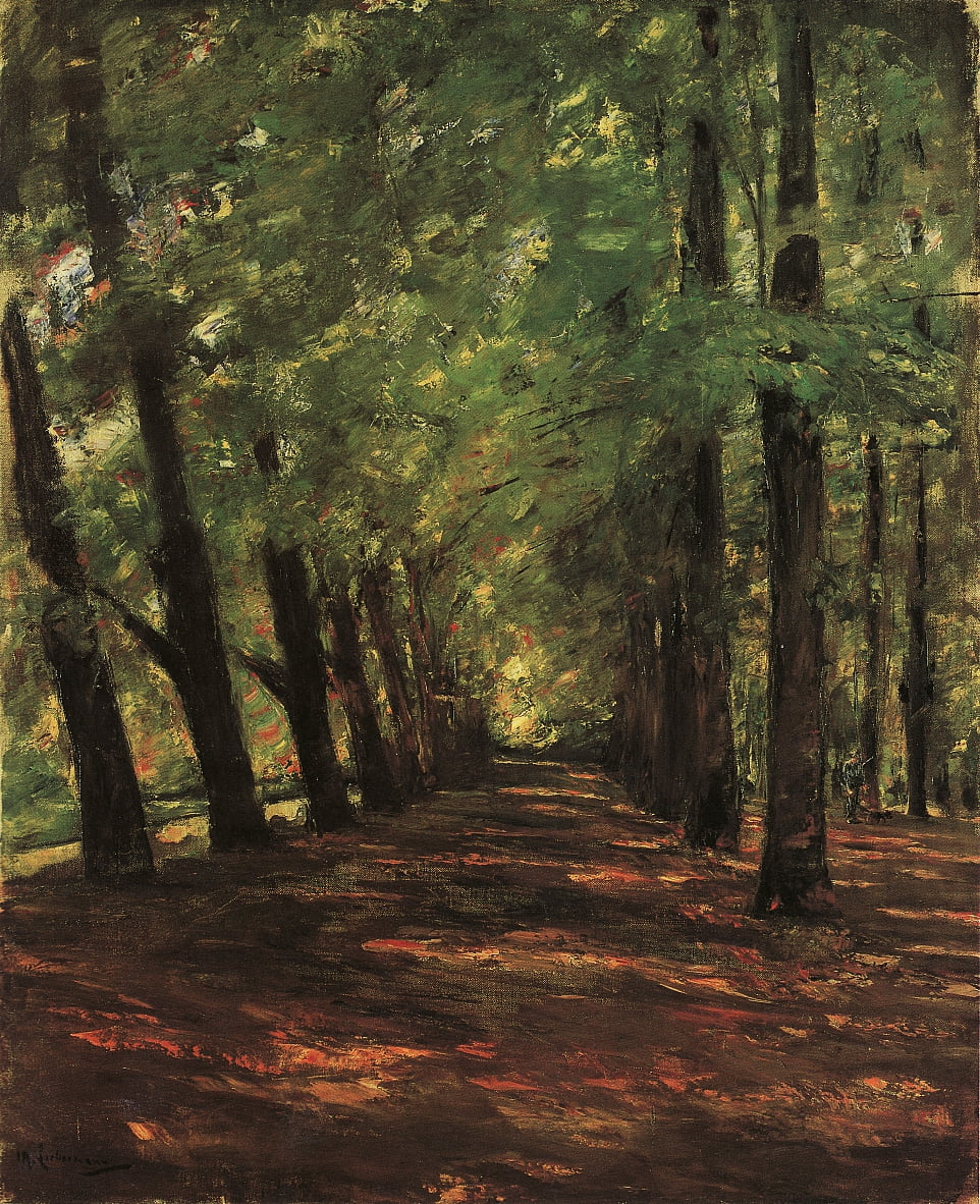 Allee in Overveen door Max Liebermann
