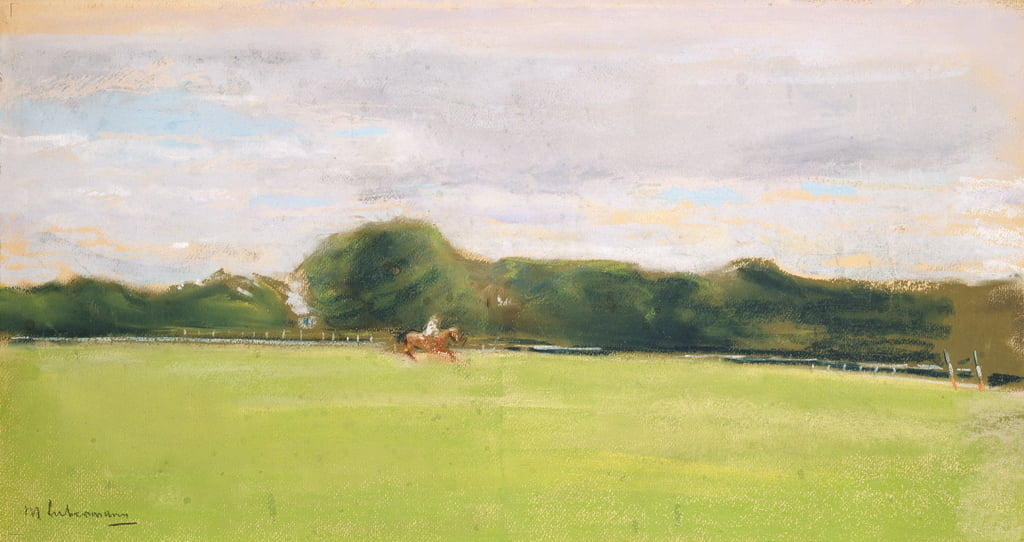 The Polo Field in Jenischs Park, 1902 (pastel op papier) door Max Liebermann