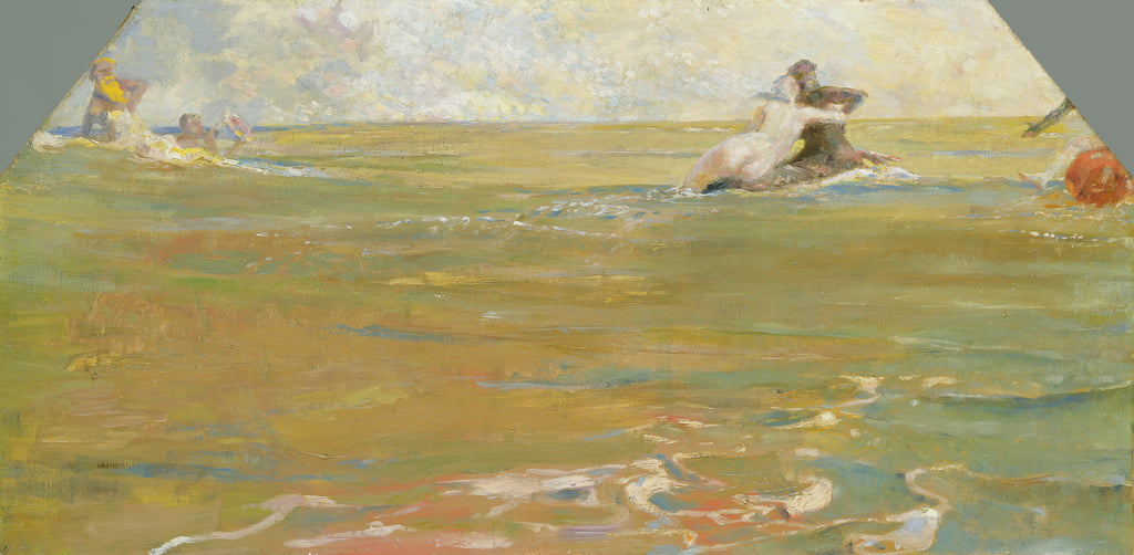 Sea Gods in the Ocean, 1884-85 door Max Klinger