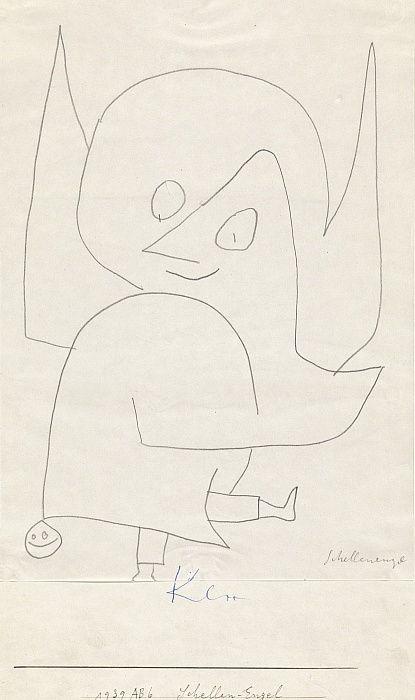 Bell Angel, 1939 door Paul Klee als kunstafdruk