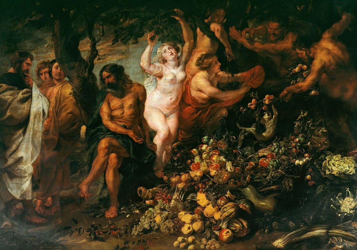 Pythagoras pleit voor vegetarisme door Peter Paul Rubens