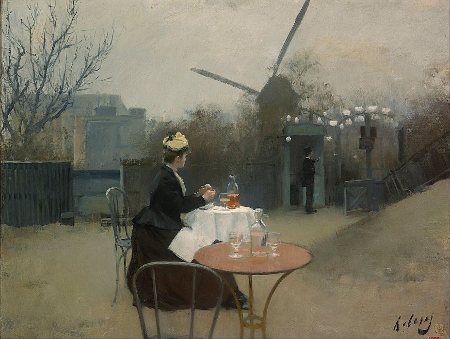 buitenshuis door Ramon Casas i Carbo