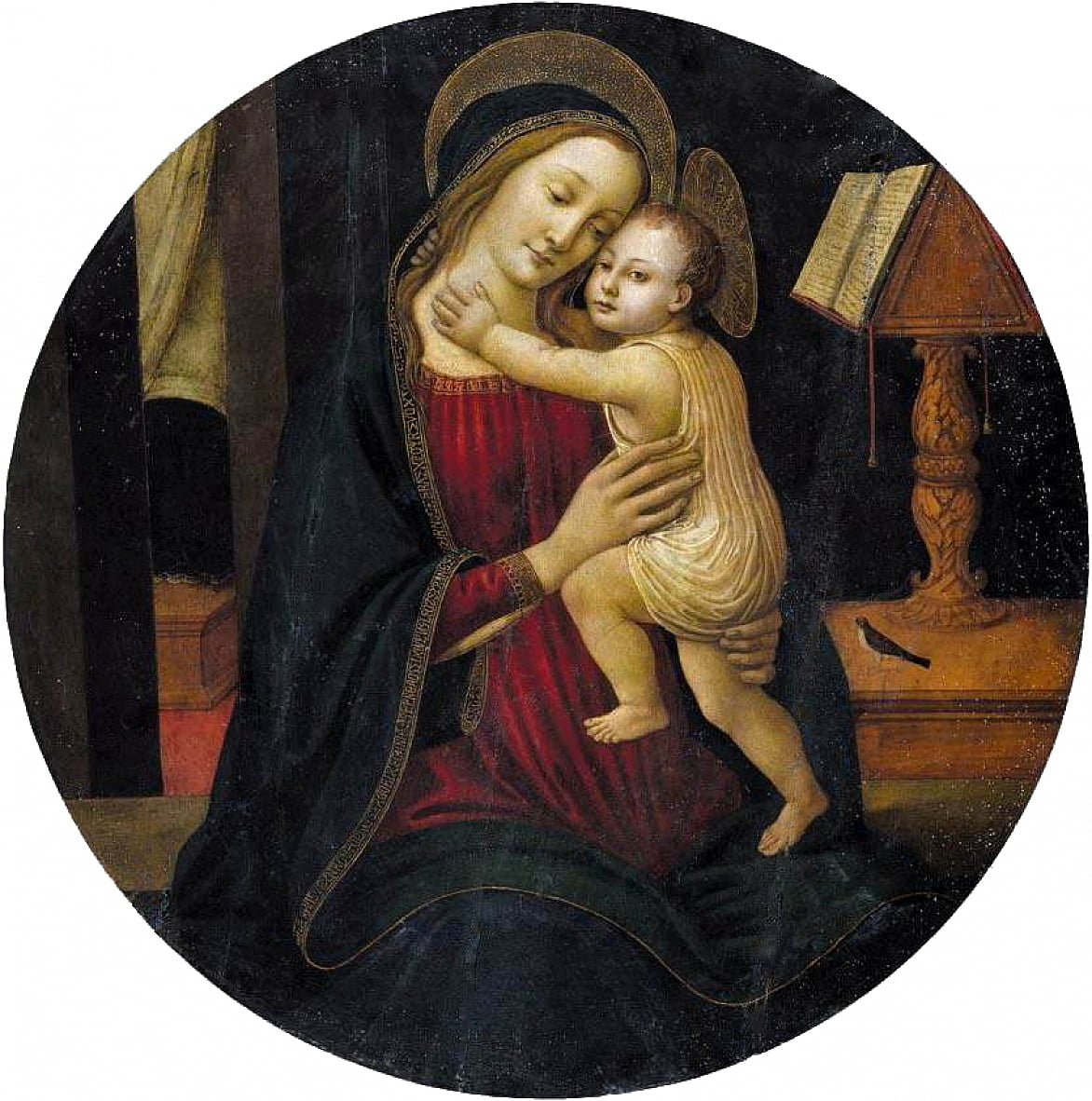Madonna en kind door Sandro Botticelli
