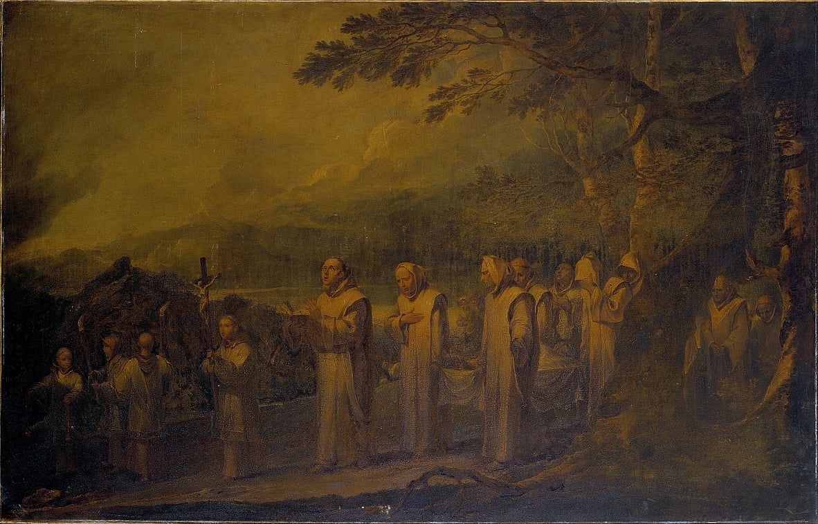 Funeral Procession of a White Friar door Sir Peter Francis Bourgeois