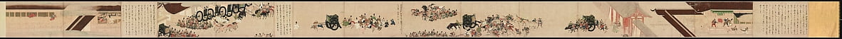 Geïllustreerde Tale of the Heiji Civil War Scroll of the Imperial Visit to Rokuhara door Unbekannt Unbekannt