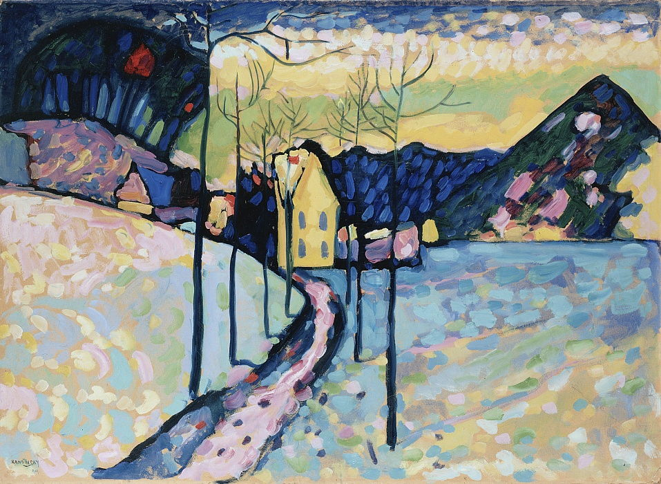 Winterlandschap, 1909. door Wassily Kandinsky
