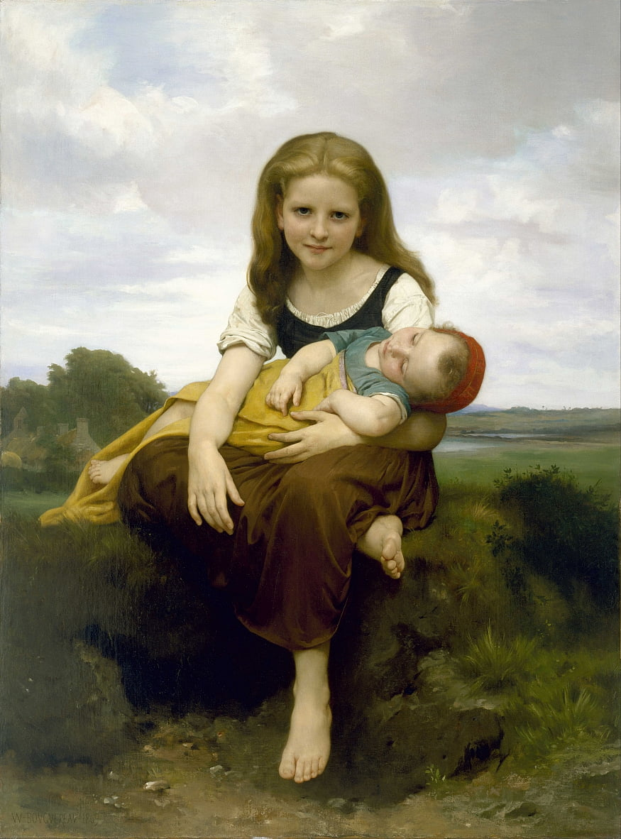 De oudere zus door William Adolphe Bouguereau