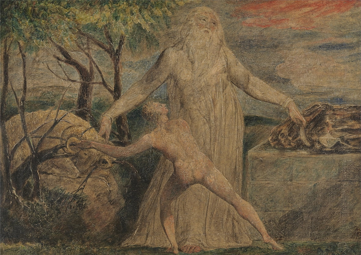 Abraham en Isaac door William Blake