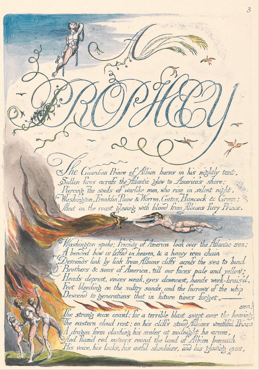 Amerika. A Prophecy, Plate 5, A door William Blake