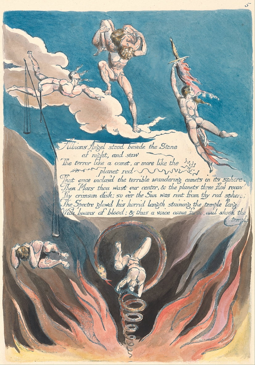 Amerika. Een profetie, bord 7, door William Blake