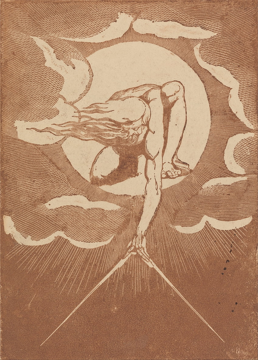 Europa. A Prophecy, Frontispice Proof Impression door William Blake