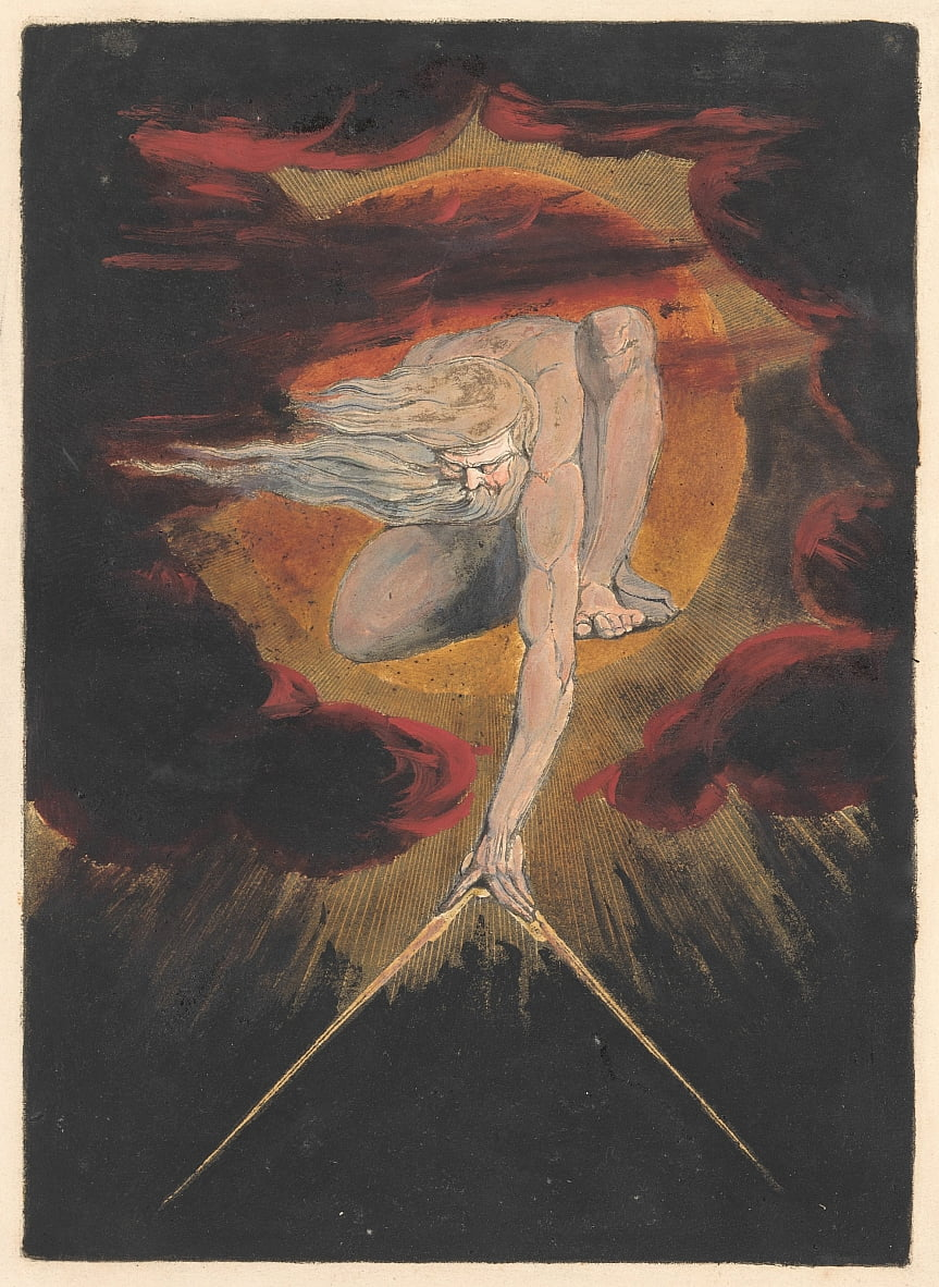 Europa. A Prophecy, Plate 1, Frontispice door William Blake