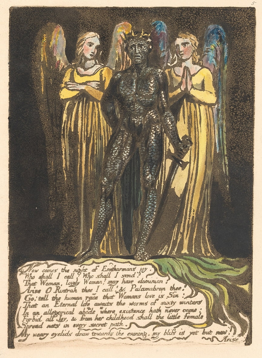 Europa. Een profetie, bord 7, komt nu de nacht. . . . (Bentley 8) door William Blake