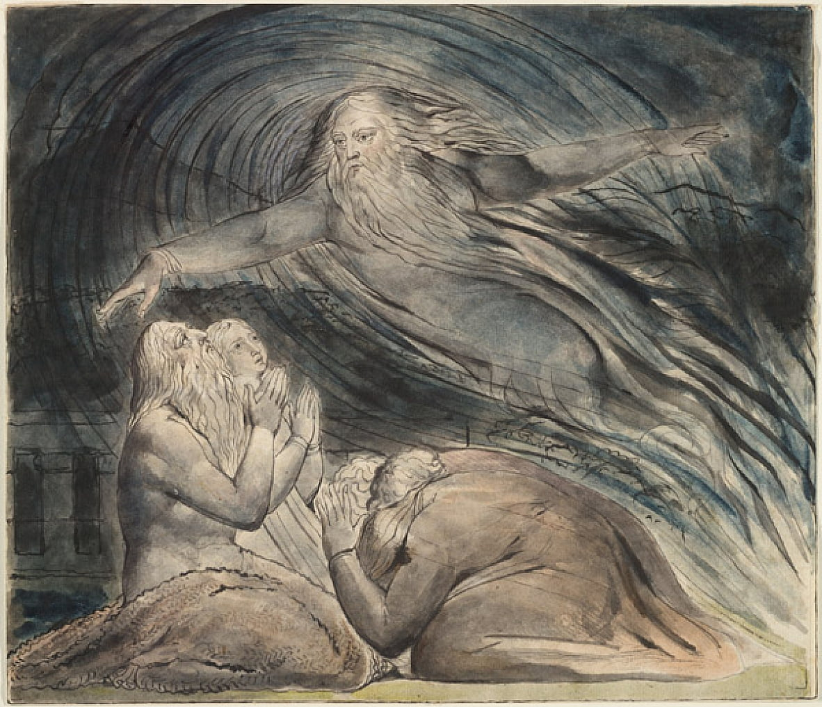 Jobs Evil Dreams door William Blake
