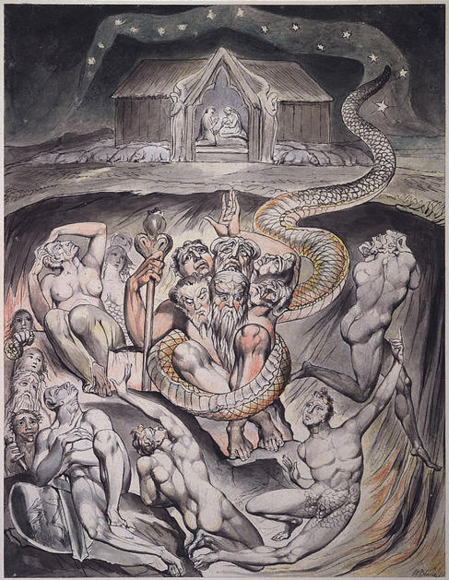 On the Morning of Christs Nativity door William Blake