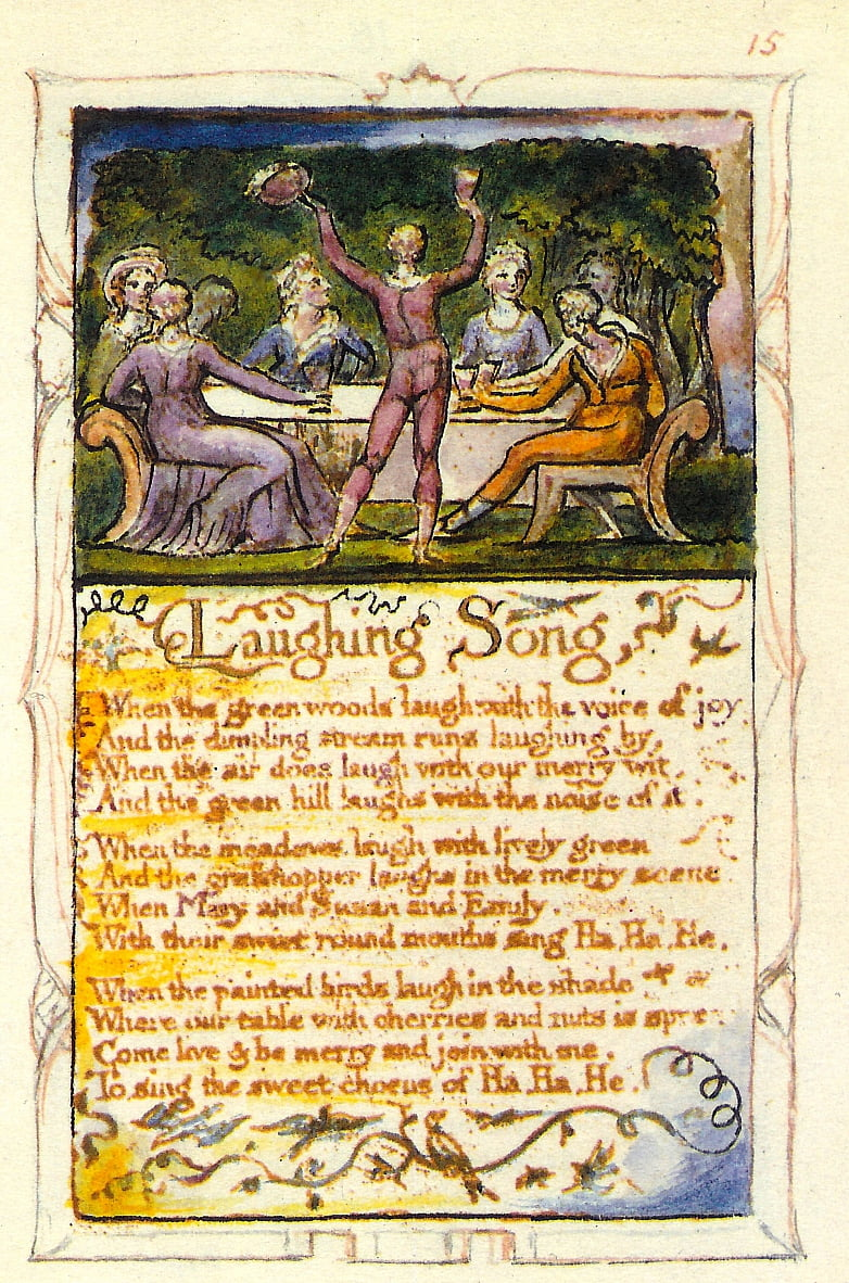 Songs of Innocence - Laughing Song door William Blake