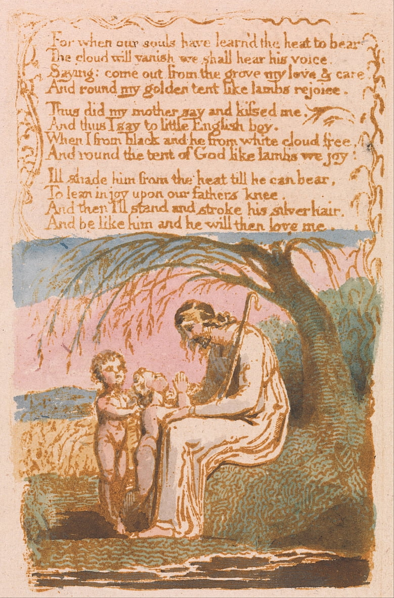 Songs of Innocence, Plate 30, The Little Black Boy (Bentley 10) door William Blake