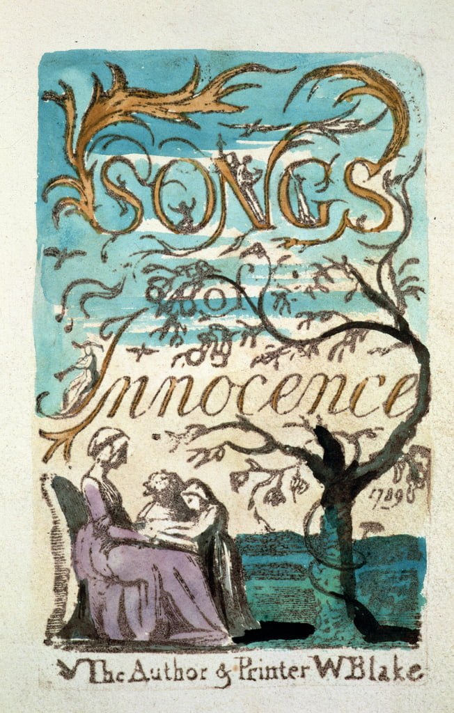 Songs of Innocence, titelpagina door William Blake