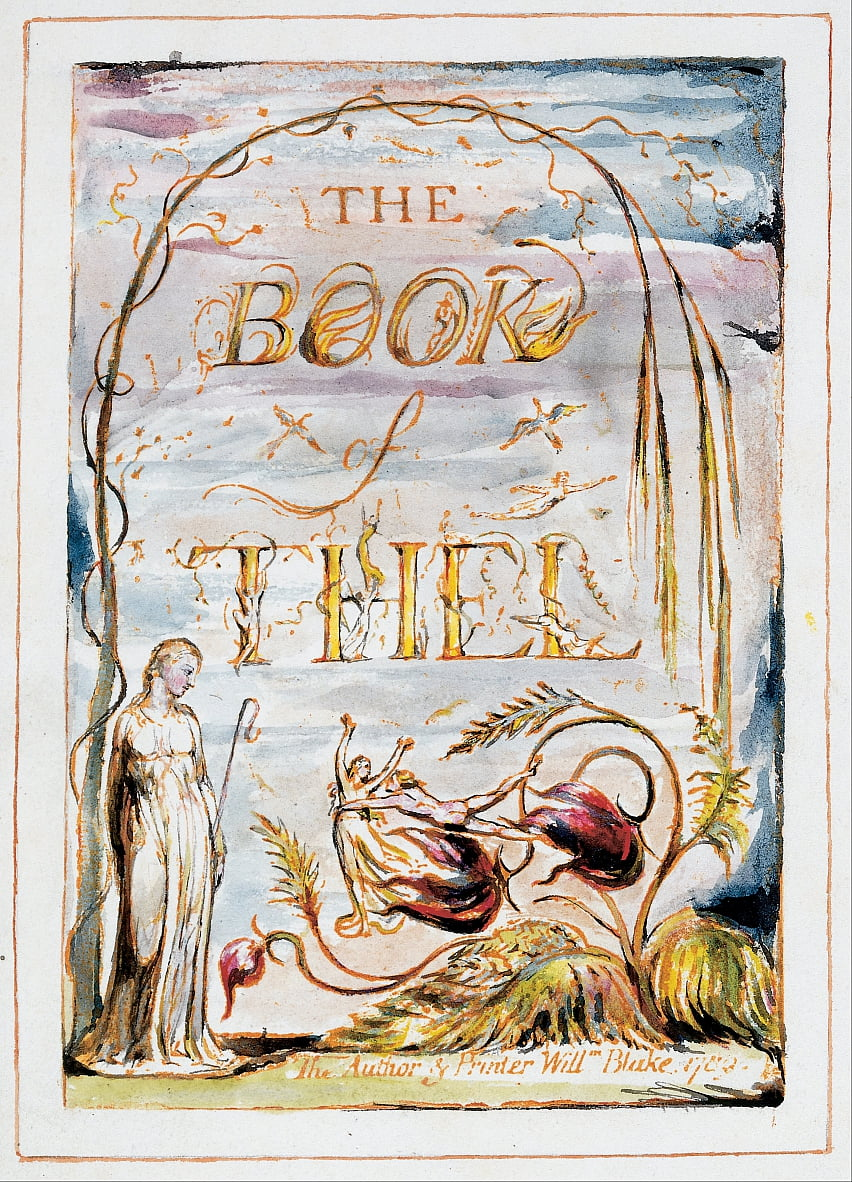 The Book of Thel (frontispice) door William Blake