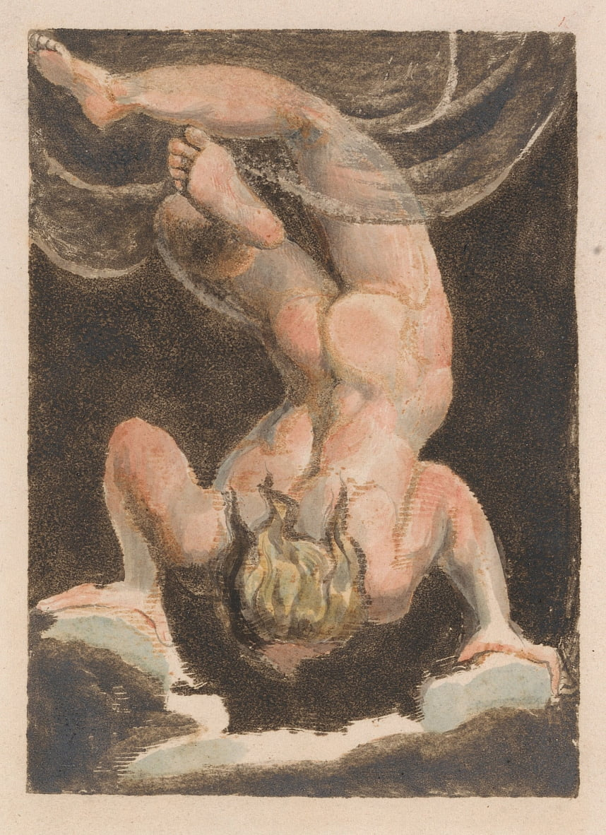 The First Book of Urizen, Plate 15 (Bentley 14) door William Blake