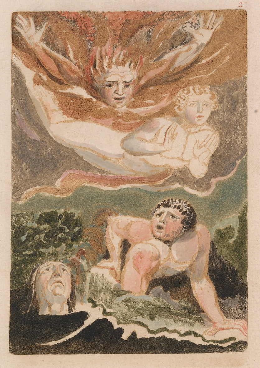 The First Book of Urizen, Plate 4 (Bentley 24) door William Blake