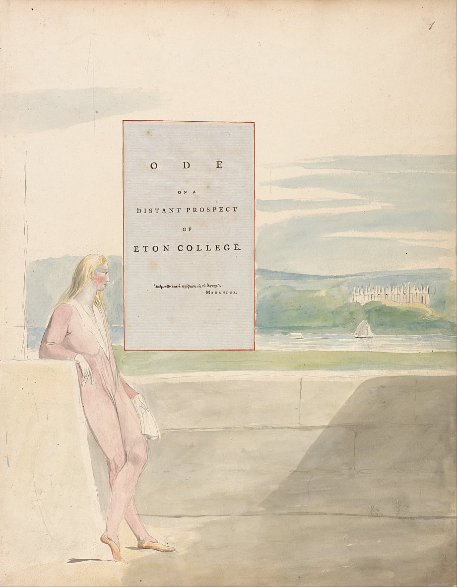 The Poems of Thomas Gray, Design 13, Ode op een verre prospect van Eton College. door William Blake