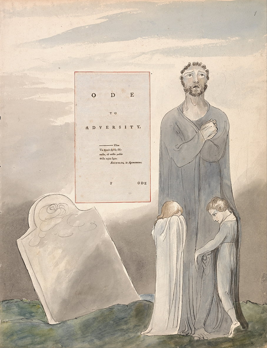The Poems of Thomas Gray, Design 35, Ode to Adversity. door William Blake