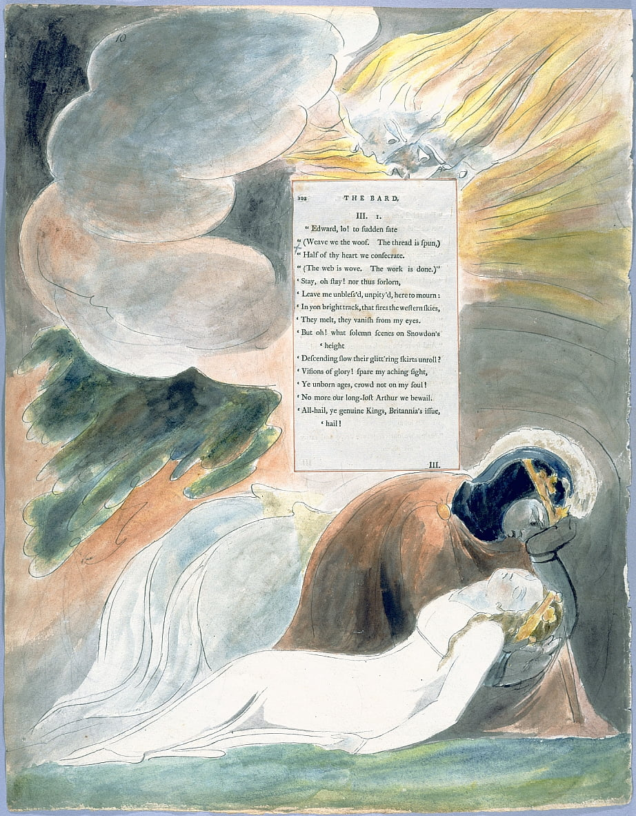 The Poems of Thomas Gray, Design 62 The Bard 10 door William Blake