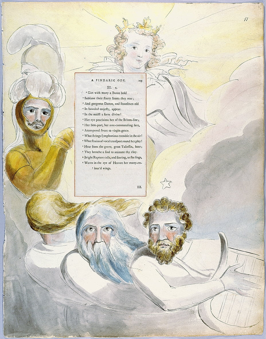 The Poems of Thomas Gray, Design 63 The Bard 11 door William Blake