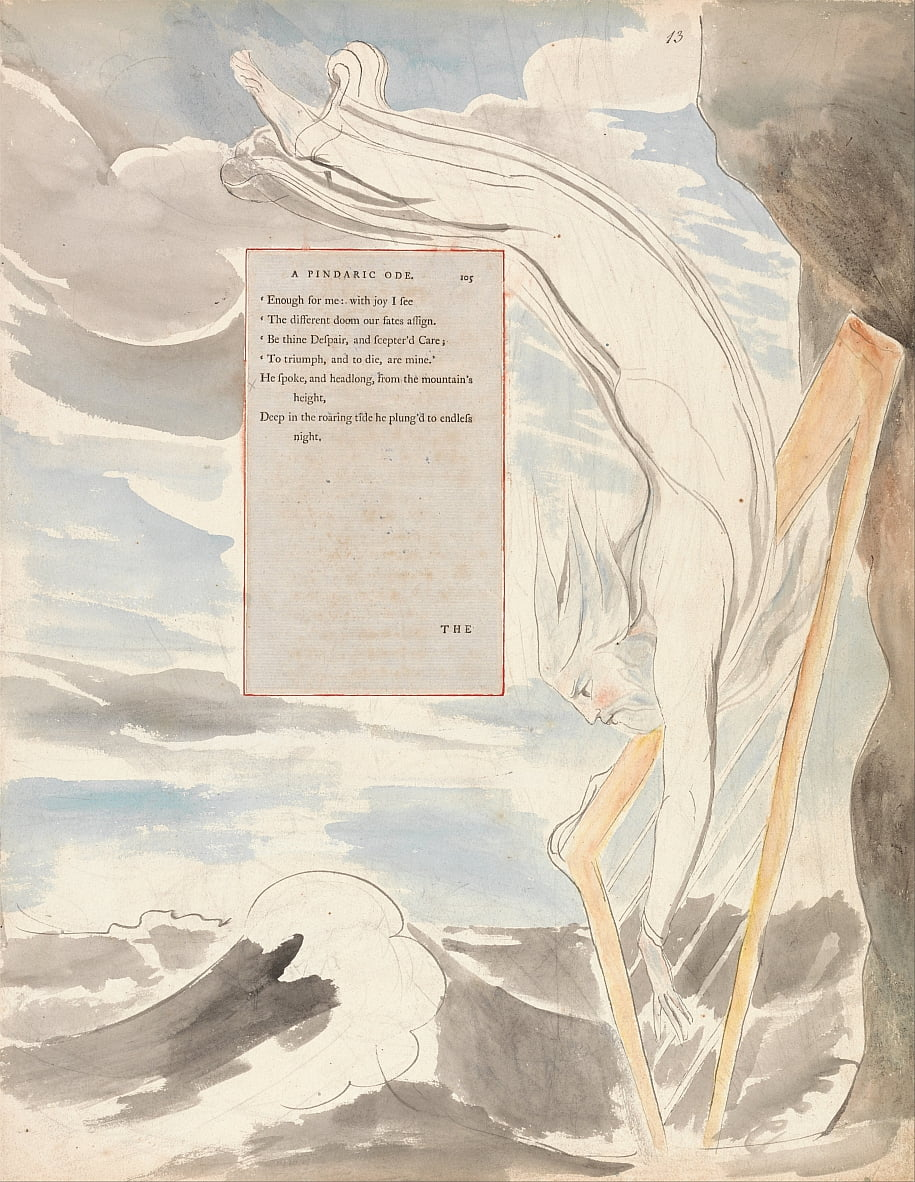 The Poems of Thomas Gray, Design 65, The Bard. door William Blake
