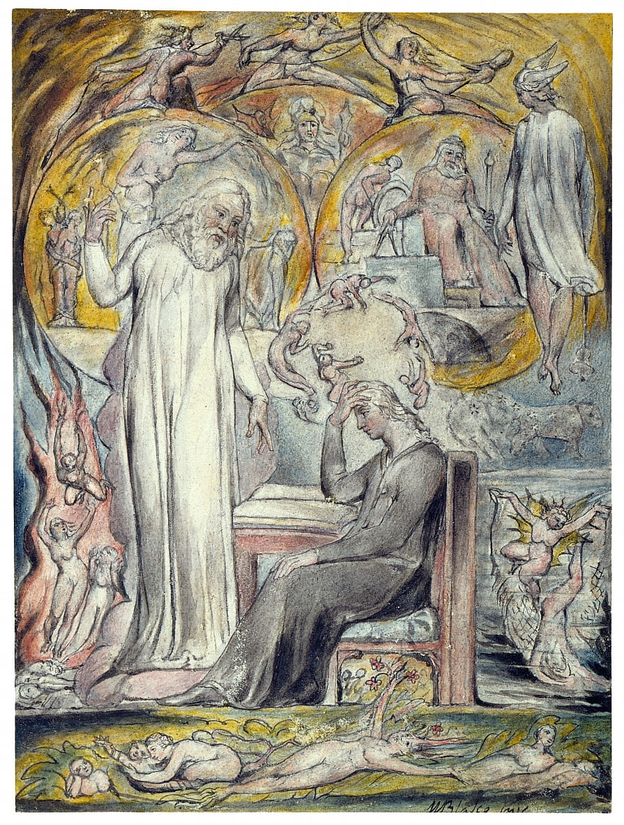 De geest van Plato door William Blake