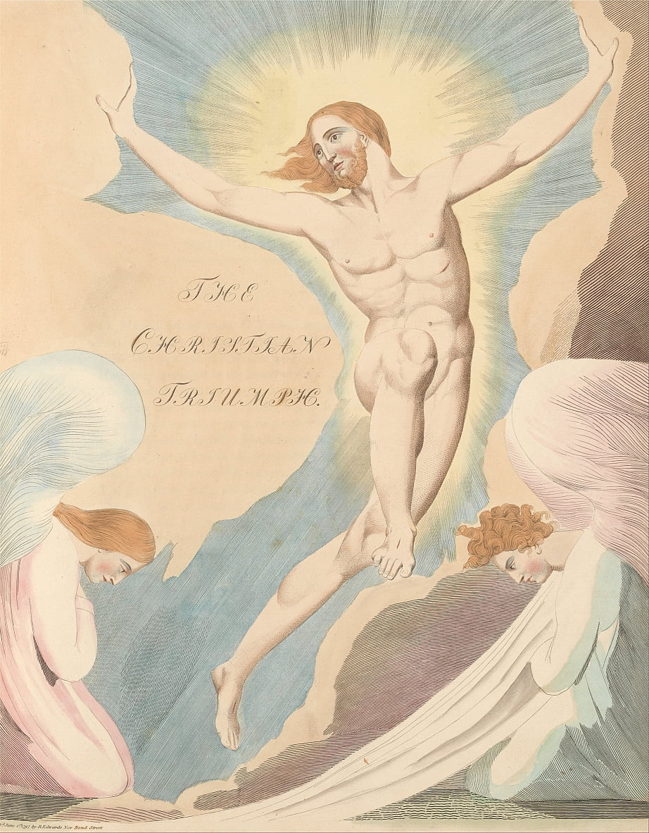 Youngs Night Thoughts, Pagina 65, Night the Fourth, The Christian Triumph. door William Blake