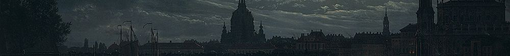 Gezicht op Dresden door Moonlight (Johan Christian Dahl)